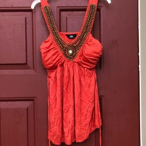 Tops - Beaded strapped tunic